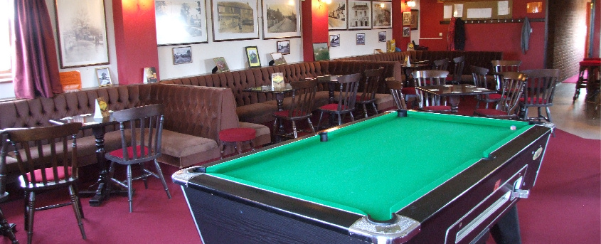 View of Club Room and Pool Table