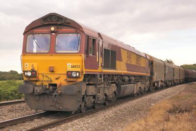 EMD DB Schenker Class 66 Diesel 66023 at Cardiff 2015