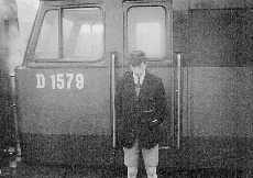 Brush Type 4 D1579 and Schoolboy at Darlington Station 1965